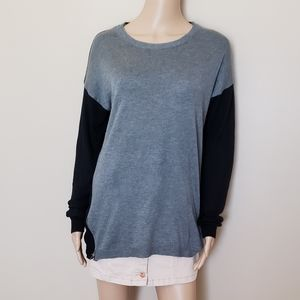 FATE GRAY & BLACK SWEATER  W/ ZIP UP SIDES